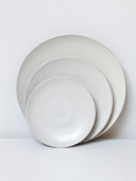 Plates Supper Lunch Breakfast Pebble Atelier Sukha Ceramics Black Clay Product Shot