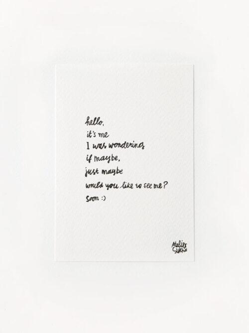 Poem Hello