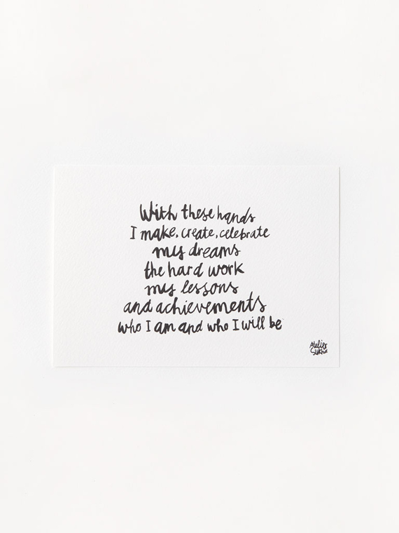 Poem Hands New Atelier Sukha Barbara van den Berg