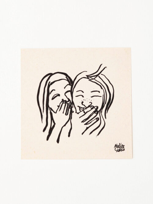 Card Giggle Girls New Atelier Sukha Barbara van den Berg