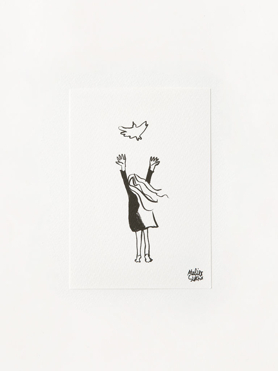 Card Bird New Atelier Sukha Barbara van den Berg
