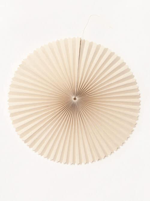 Paper Fan Large Lokta Paper Handmade Handfolded
