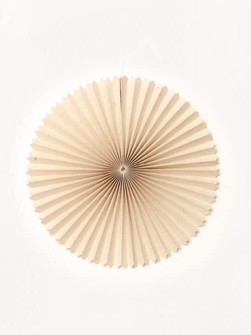 Paper Fan Medium Lokta Paper Handmade Handfolded