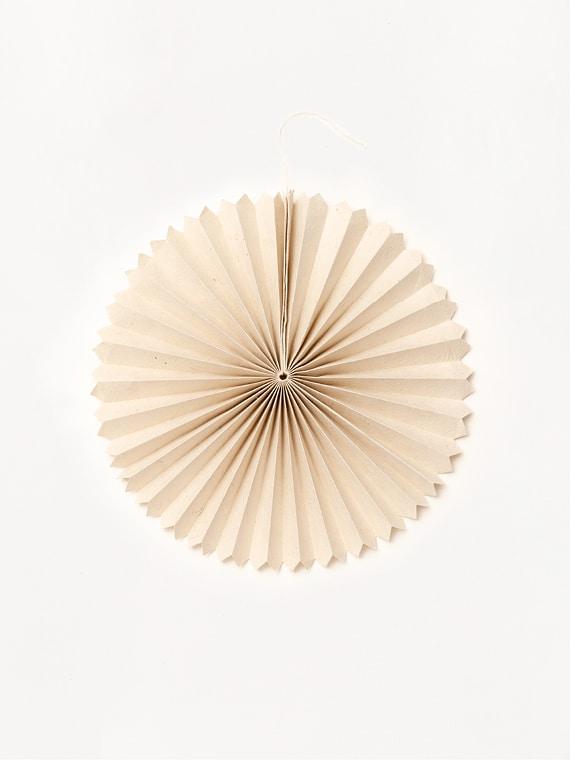 Paper Fan Small Lokta Paper Handmade Handfolded