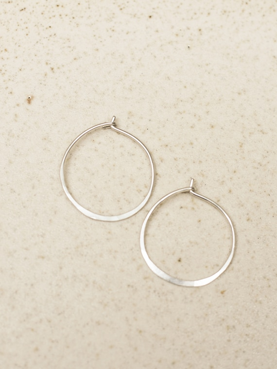 handmade silver hoops fant Martine Viergever small