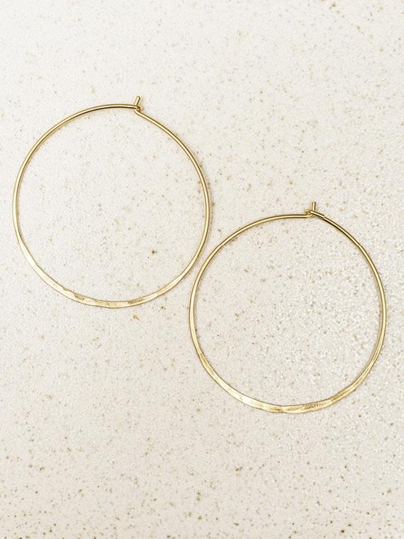 handmade golden hoops fant Martine Viergever large