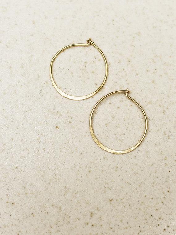 handmade golden hoops fant Martine Viergever small