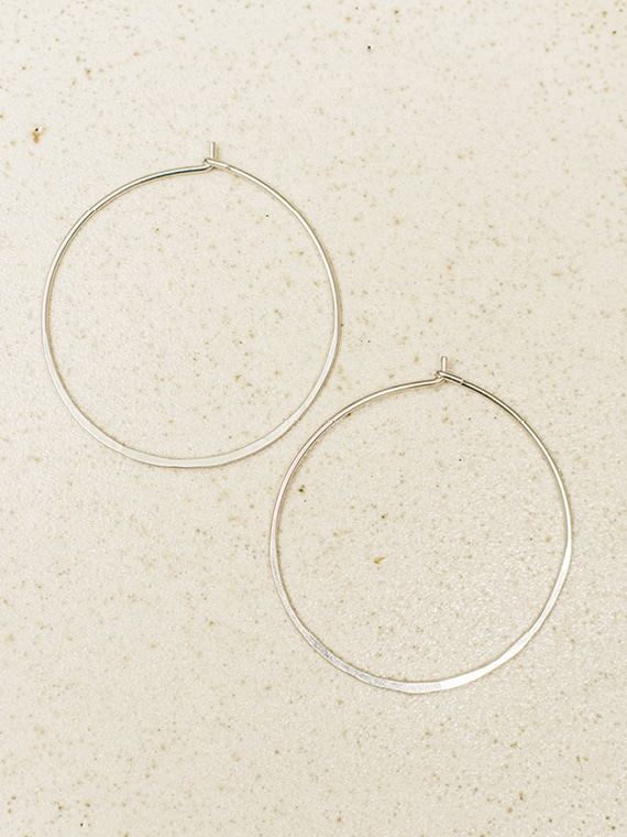 handmade silver hoops fant Martine Viergever large