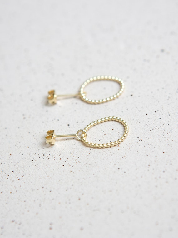 Petit Pois Eva Schreuder Earrings Gold
