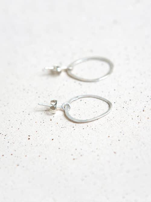 Eva Schreuder Tout En Rond Earring Silver Jewelry Minimalistic