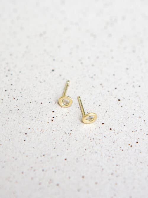 Eva Schreuder Earring no3 Gold Jewelry Minimalistic