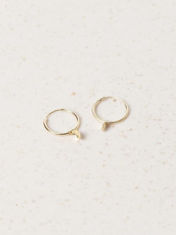 Bouton Earrings Gold Eva Schreuder Handmade Jewellery