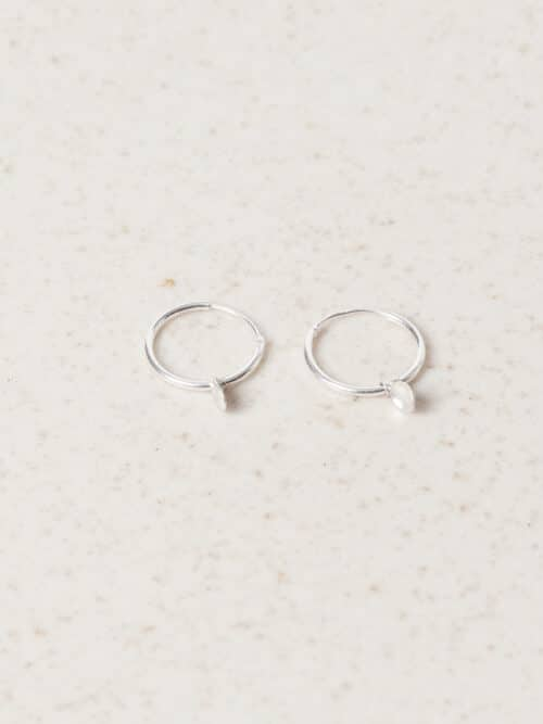 Bouton Earrings Silver Eva Schreuder Handmade Jewellery