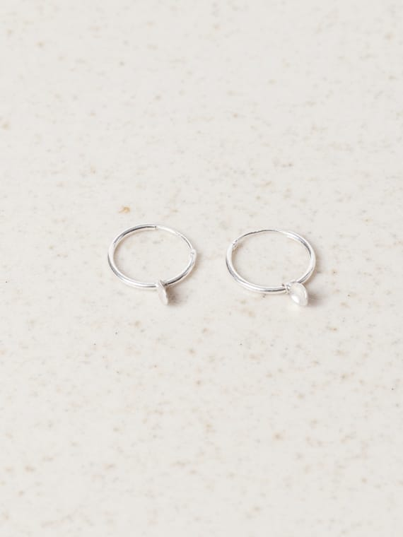 Bouton Earrings Silver Eva Schreuder Handmade Jewellery
