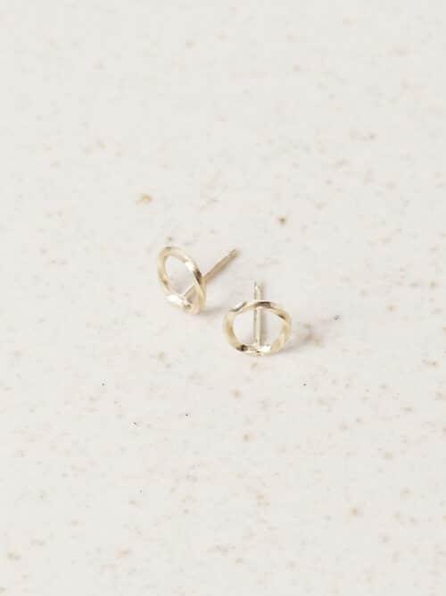 Eva Schreuder Earring Goute 4 Gold Jewelry Minimalistic