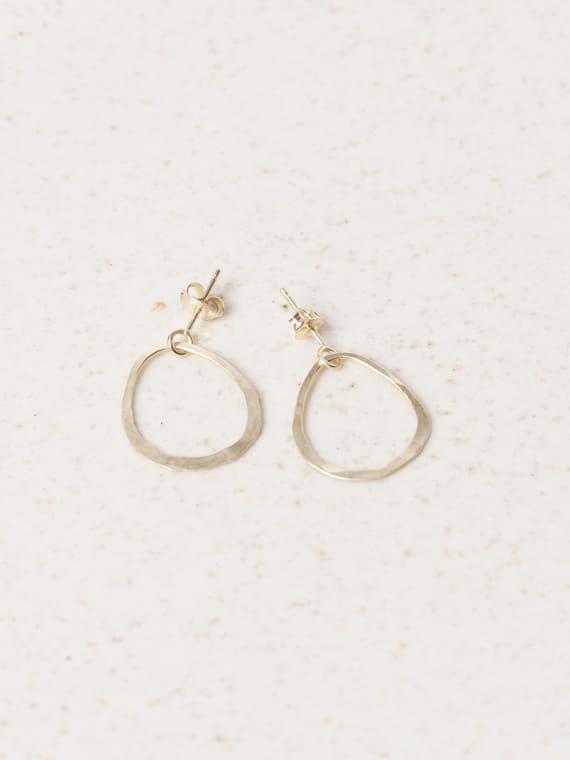 Tout En Rond Earring Gold Eva Schreuder Handmade Jewellery