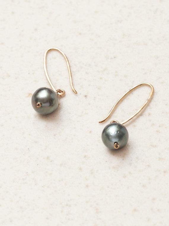 Dark Grey Tahiti Pearls Parel van Karel Rolled Gold Product Shot Detail