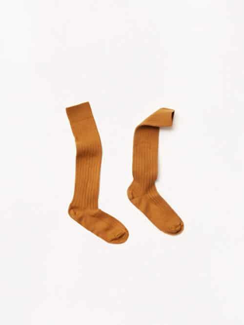 Collegien Socks Egyptian Cotton Ochre