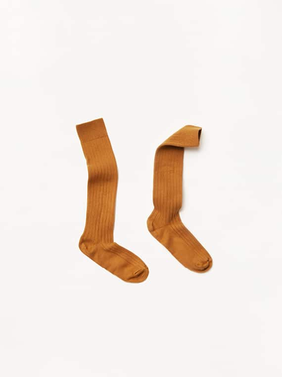 Collegien Socks Egyptian Cotton Ochre