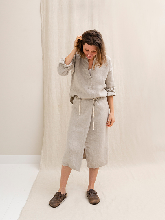 Natural Linen Organic Shirt FANT Linen skirt Grain