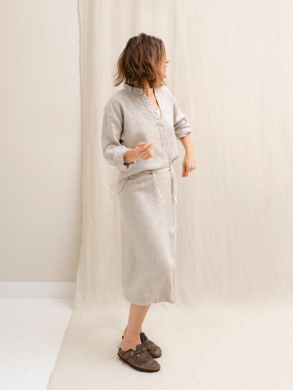 Linen skirt Linen Shirt FANT Sukha