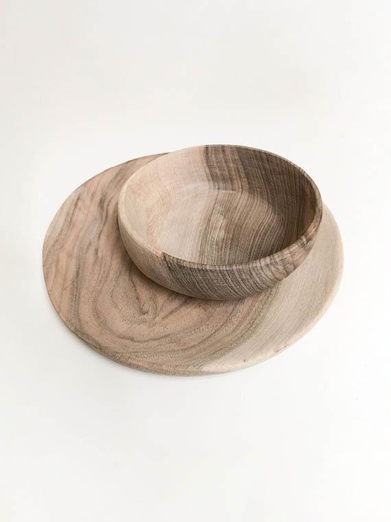 Handmade Wooden Walnut Bowl Plate
