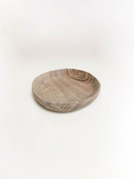 Handmade Walnut Wooden Plate Tableware
