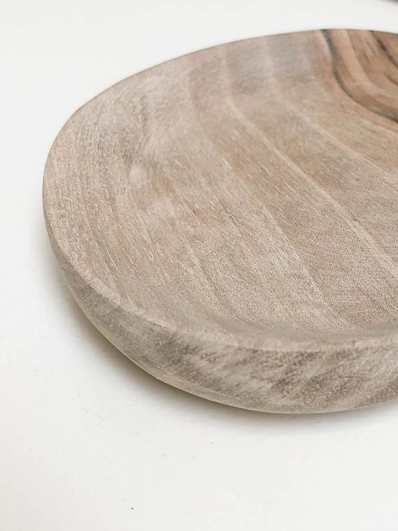 Handmade Wooden Walnut Plate Small