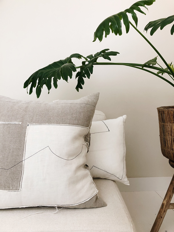 Linen Cushion Natural Home FANT Mud Cover