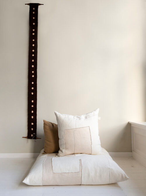 linen cushion white natural linen cushion nomad fant