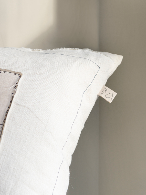 linen cushion white natural linen cushion nomad fant detail