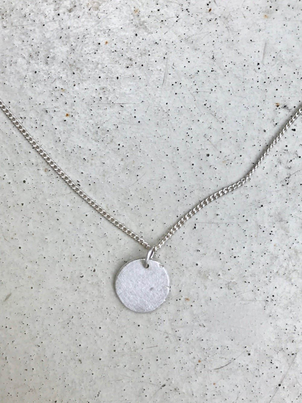 Necklace Moon Recycled Silver Handmade Jewellery