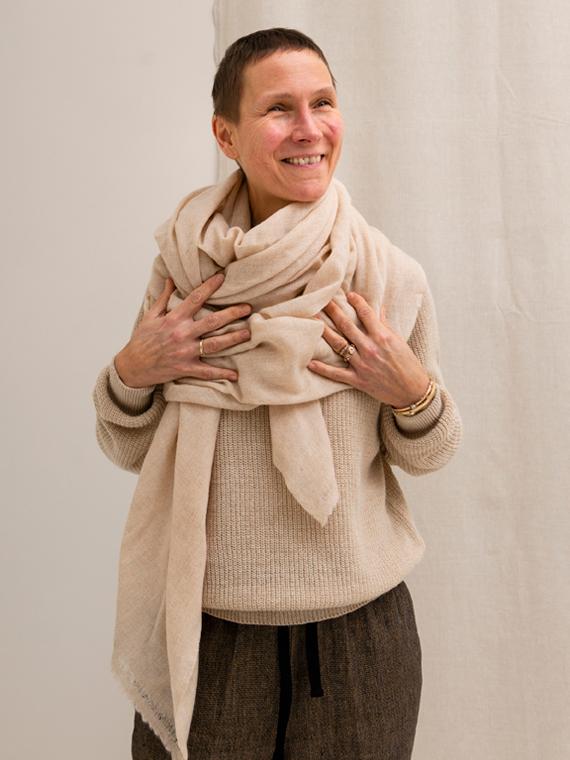 Pomandere shop online Alpaca Sweater cashmere scarf