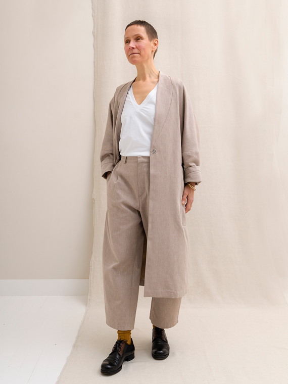 organic cotton coat sustainable coat elsien grindhuis
