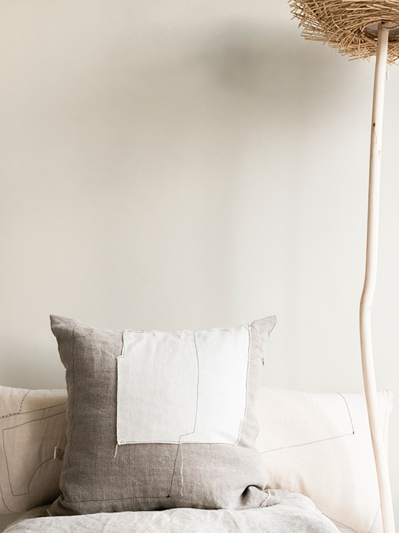 linen cushion white natural linen cushion nomad grey mud total
