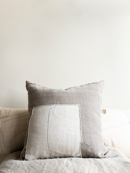 linen cushion white natural linen cushion nomad grey mud total 2