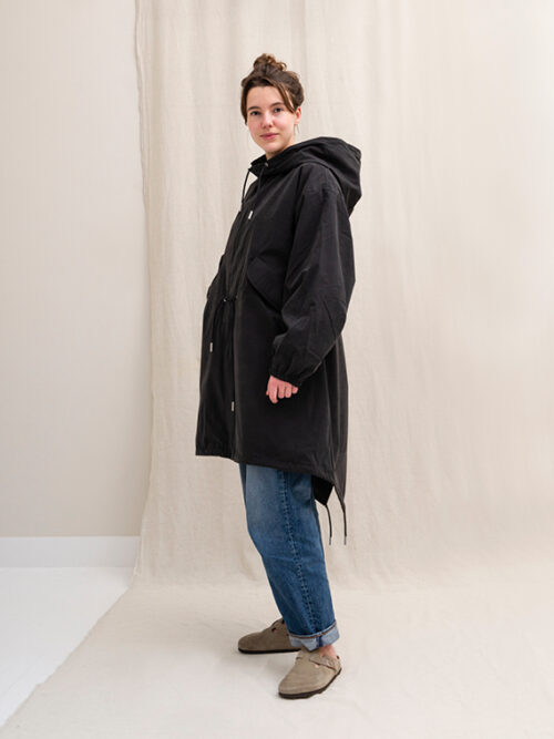 Vegan Coat Organic Coat Embassy of Bricks And Logs Bundaberg Black