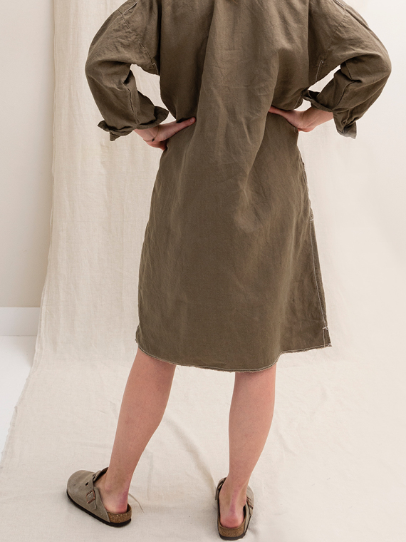 linen dress shop online FANT dress Free back