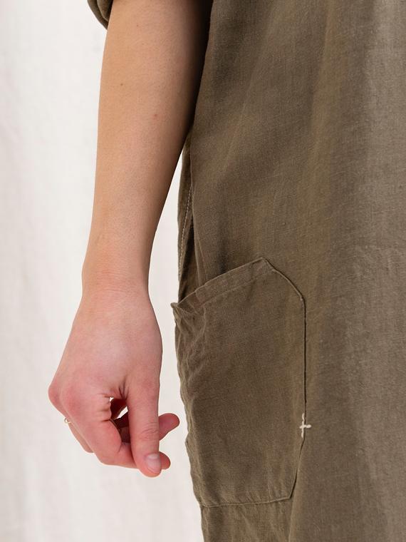 linen dress shop online FANT dress Free detail pocket