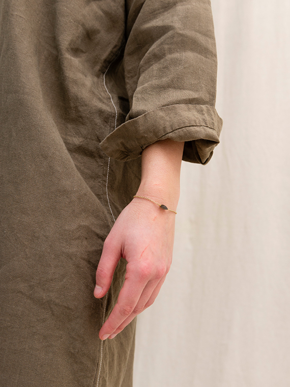 linen dress shop online FANT dress Free detail sleeves