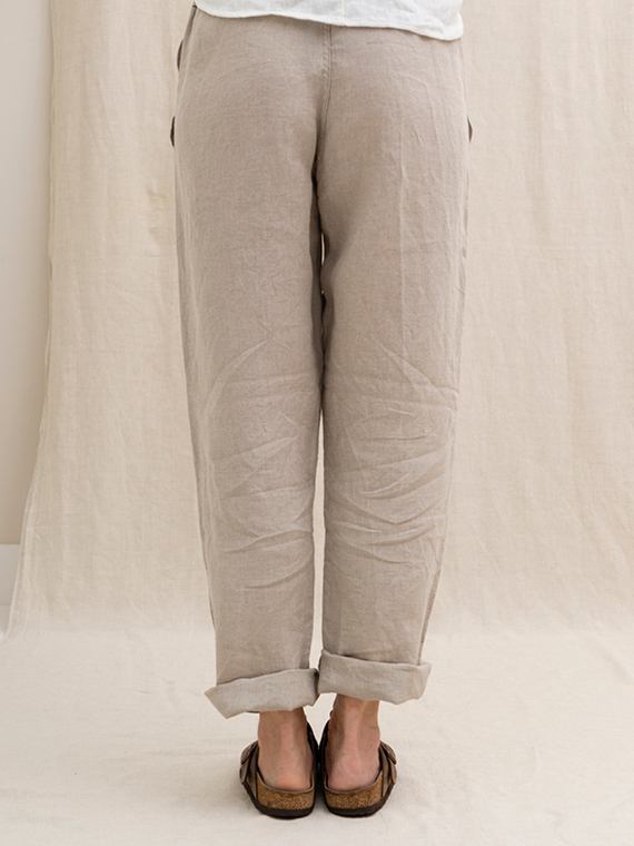 Linen pants shop online FANT Sukha back straight