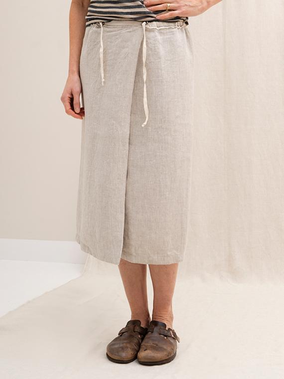 linen skirt online shop natural skirt fant sukha straight front