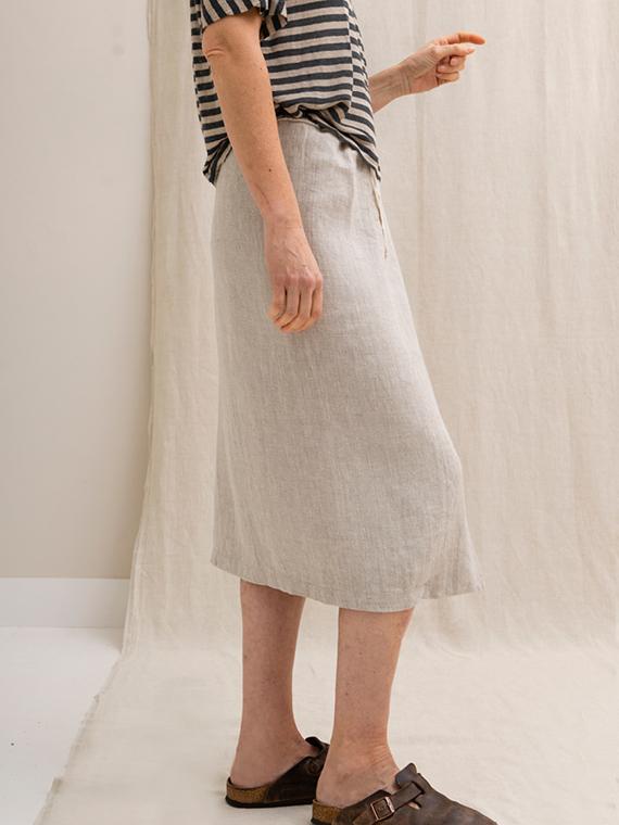 linen skirt online shop natural skirt fant sukha detail side