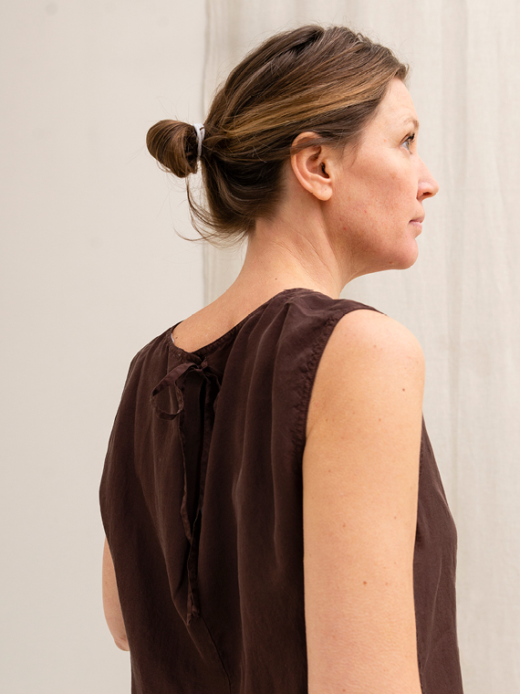 Pomandere shop online silk shirt blouse back