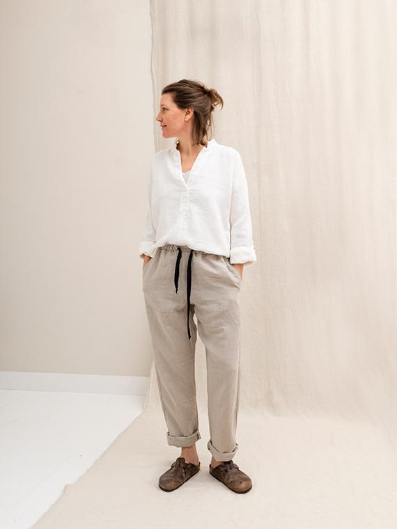Linen pants shop online FANT Sukha total front