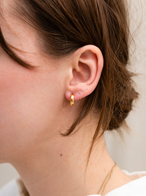 handmade jewellery martinen viergever golden hoops