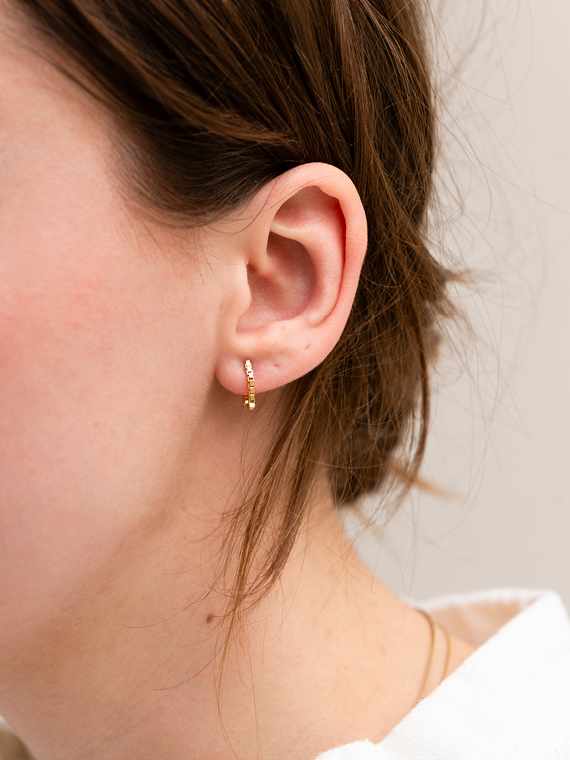 handmade earrings Martine Viergever square simple