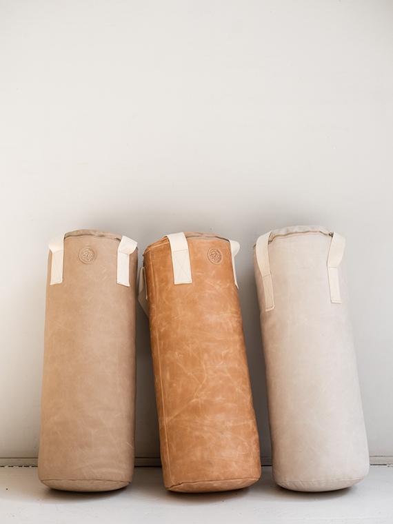 Handmade leather punching bag Boxsack Handmade in Amsterdam 3 colors