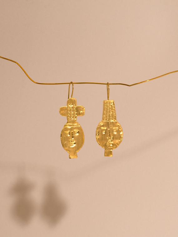 handmade earrings dos earrings après ski Porte dorée packshot