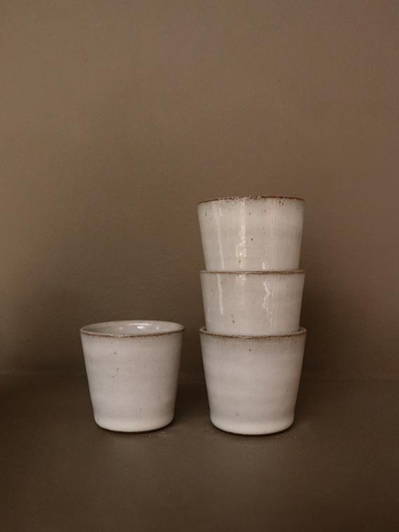 handmade espresso cup river detail